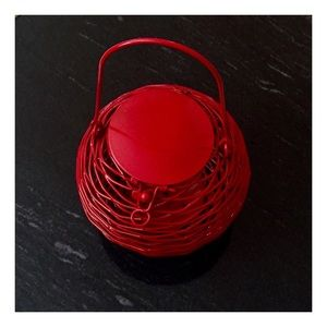 Other - Lucky Lunar New Year Candle Lantern in Red Wire